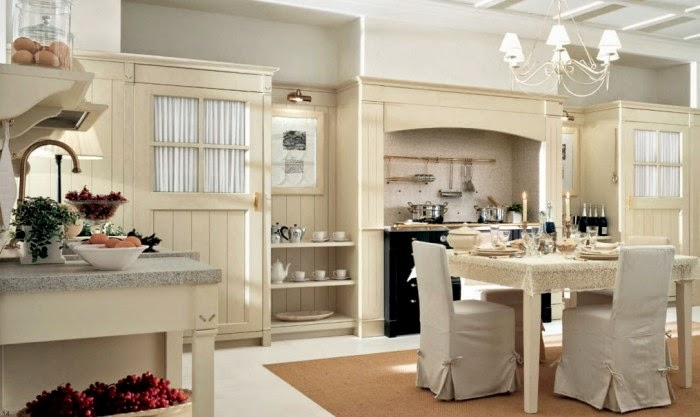 hermosa y cómoda cocina color celeste acero vistosa y sencilla cocina
