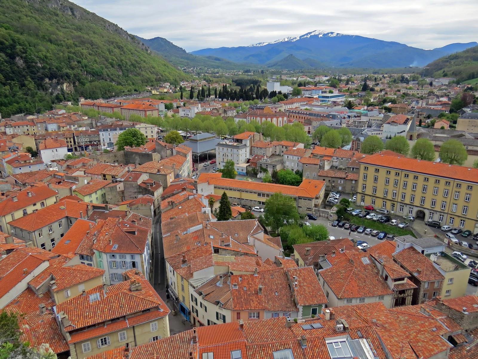Vistas desde el Castillo de Foix, Francia