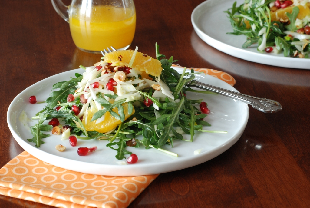 Simply So Good: Orange Fennel Arugula Salad with Pomegranates and ...