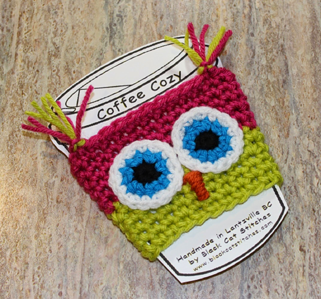 Black Cat Stitches: Free Owl Coffee Cozy Crochet Pattern ...