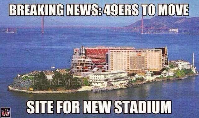 breaking news: 49ers to move site for new stadium - #49ersHaters #nflstadium