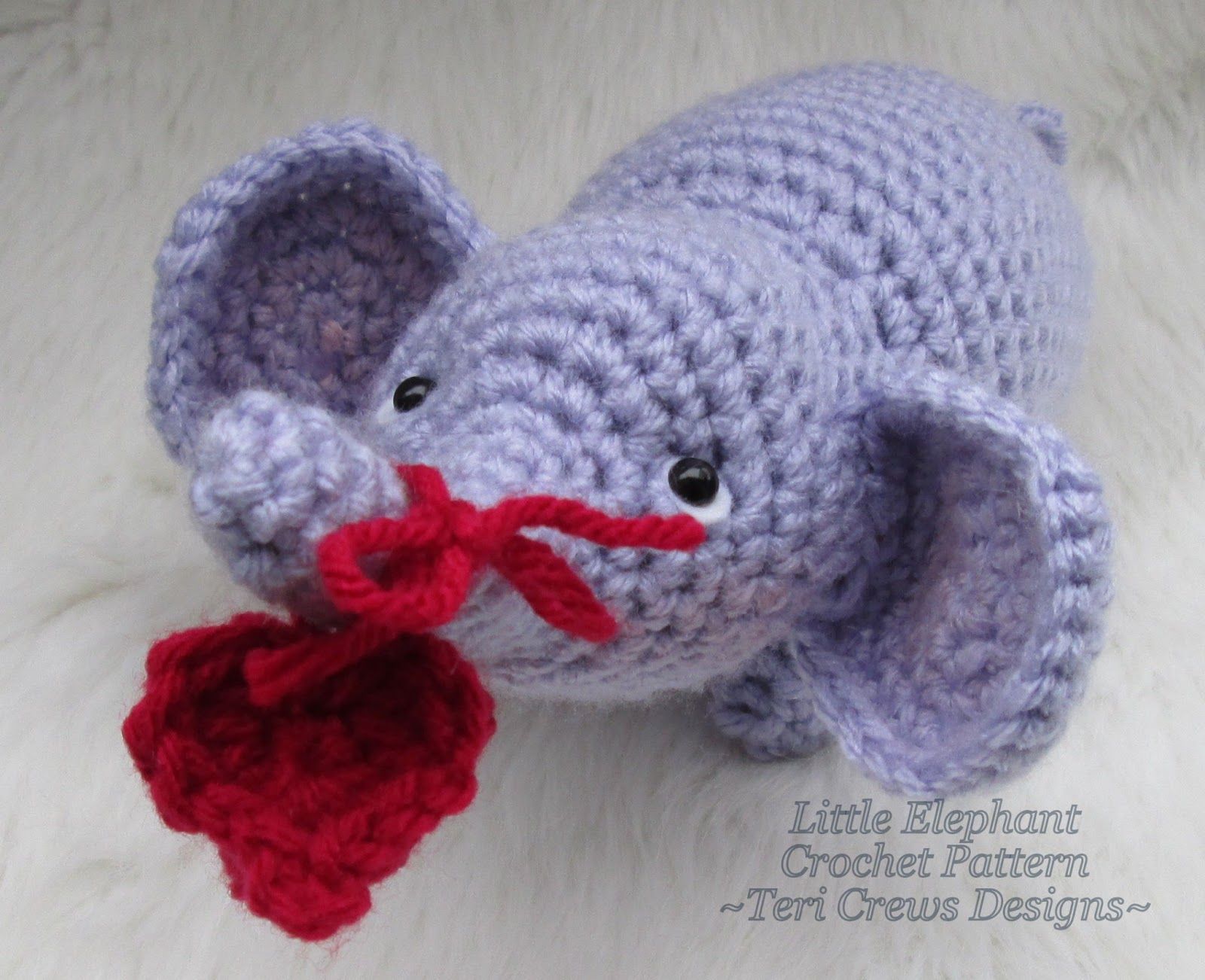 Crochet Patterns Elephant : Teris Blog: Free Little Elephant Crochet Pattern