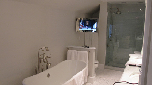 How to install tv in bathroom