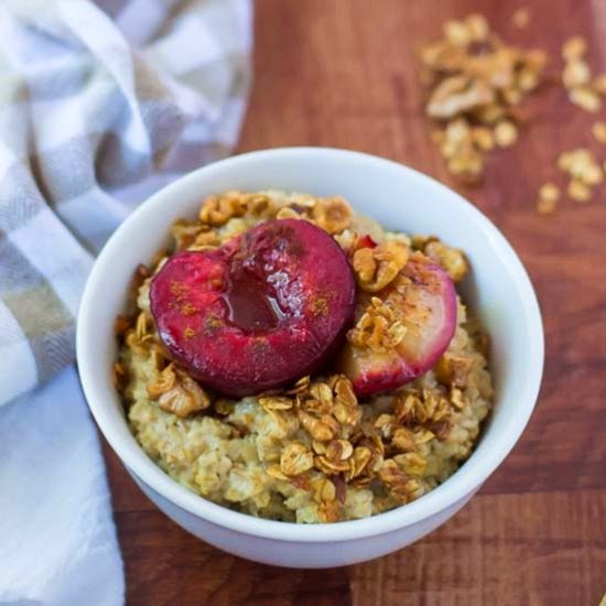 The Law Student's Wife | Plum Crunch Steel Cut Oats