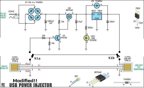 Инжектор питания для антенны 5v usb