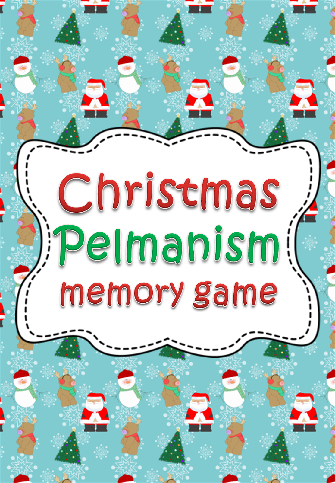 A Crucial Week: FREE Christmas pelmanism (memory) card game