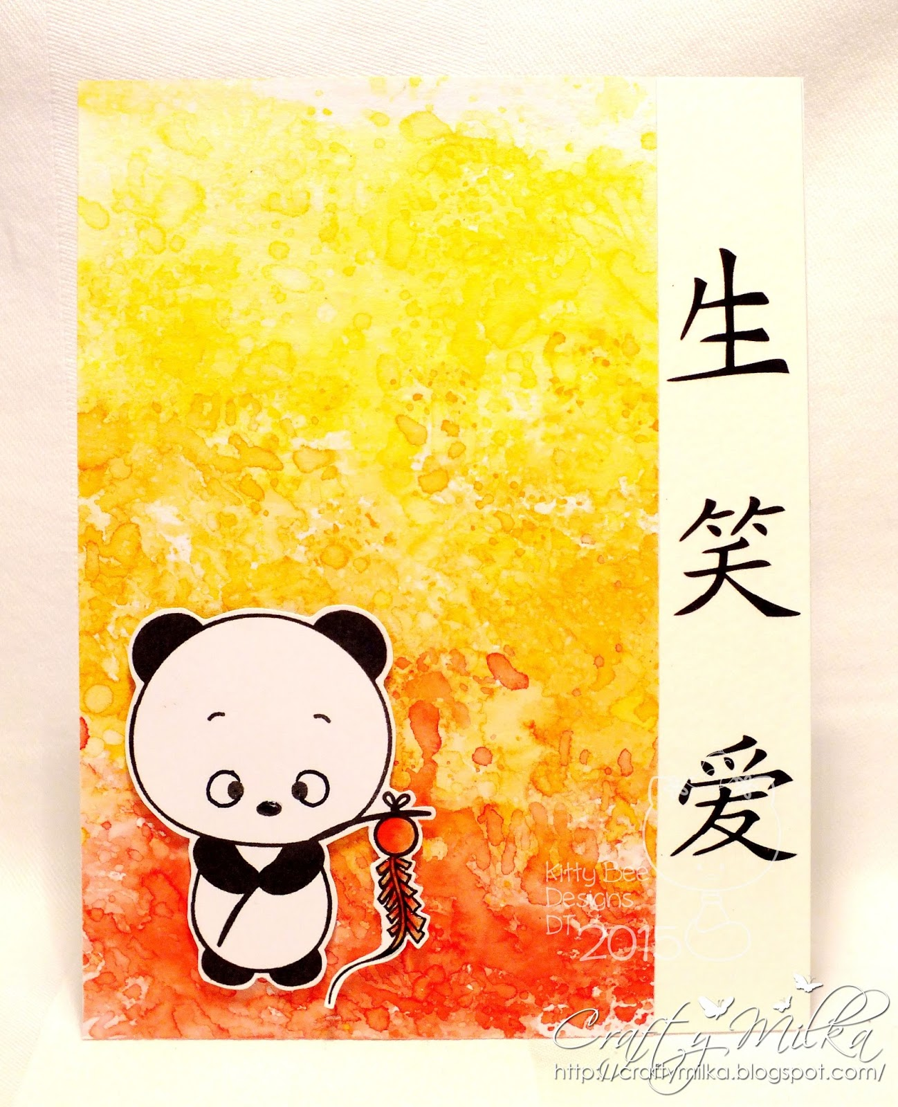 Crafty milka chinese new year panda card kitty bee designs i used super cute image chinese new year panda from 2013 january panda releases the sentiment are chinese symbols and say live laugh love buycottarizona