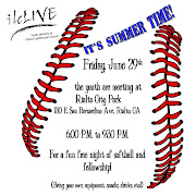 . the 29th, bring your softball equipment, be it your ball, bat, glove, .