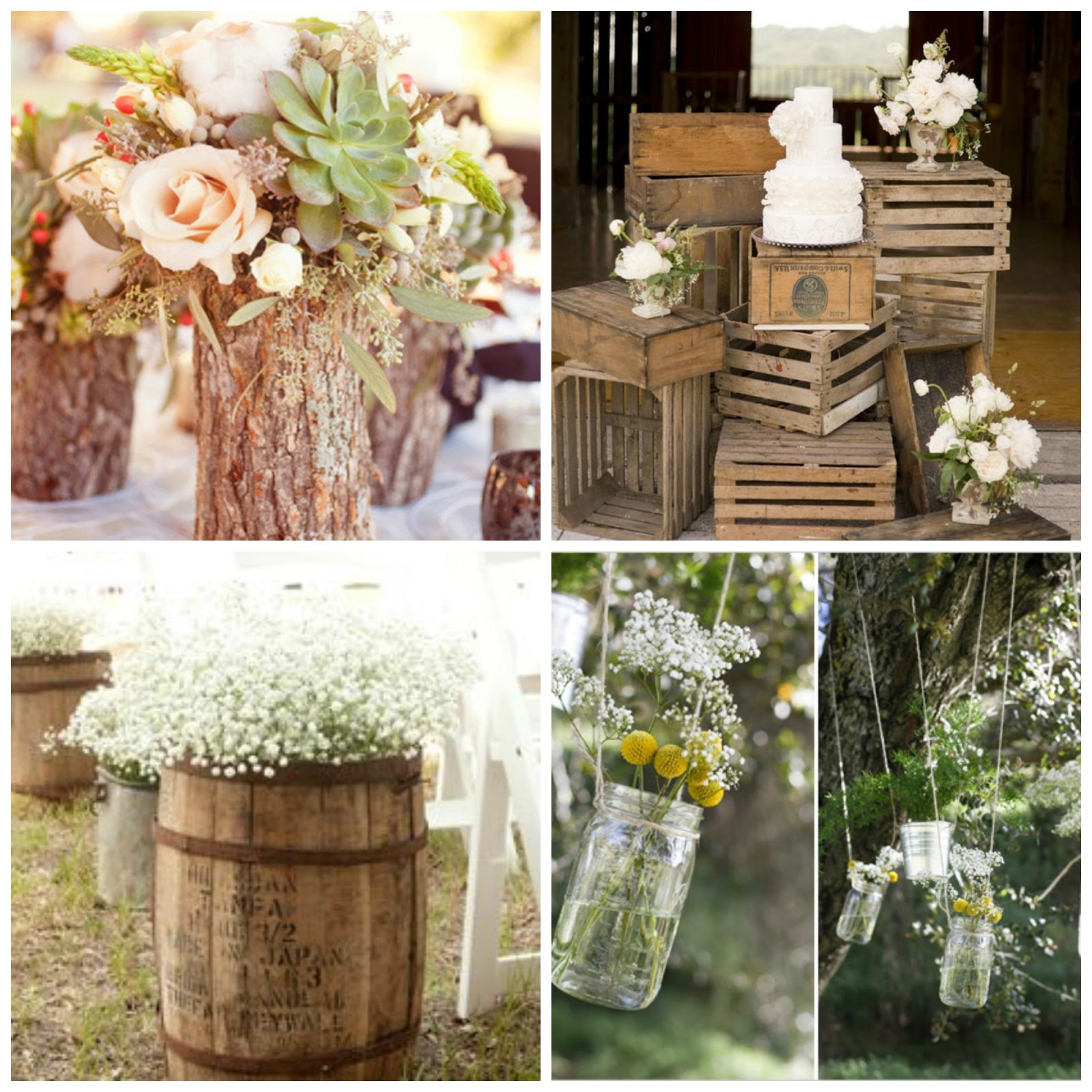 Una boda r stica loveventos - Ideas para decoracion rustica ...