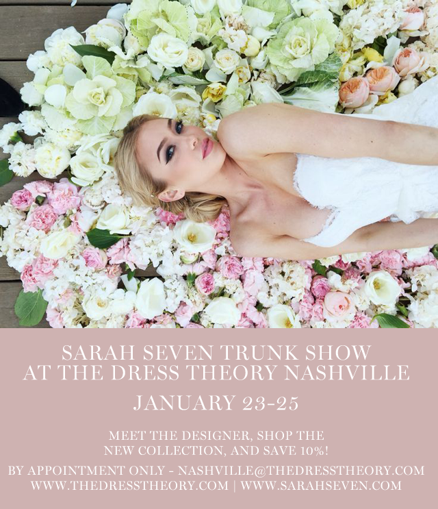 the dress theory nashville is hosting a sarah seven trunk show and bridesmaid dress pop up