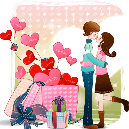 Parejita de San Valentín - Vector 2