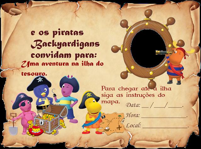 Convite  Backyardigans Piratas para imprimir grátis