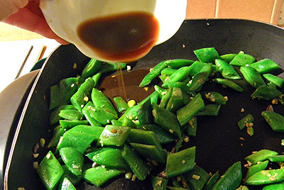 Sauce Being Poured into Stir-fry