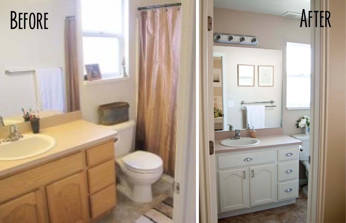 How to paint bathroom cabinets - A Few Of My Favorite Things Master Bath Before And After How To Paint A Bathroom Vanity