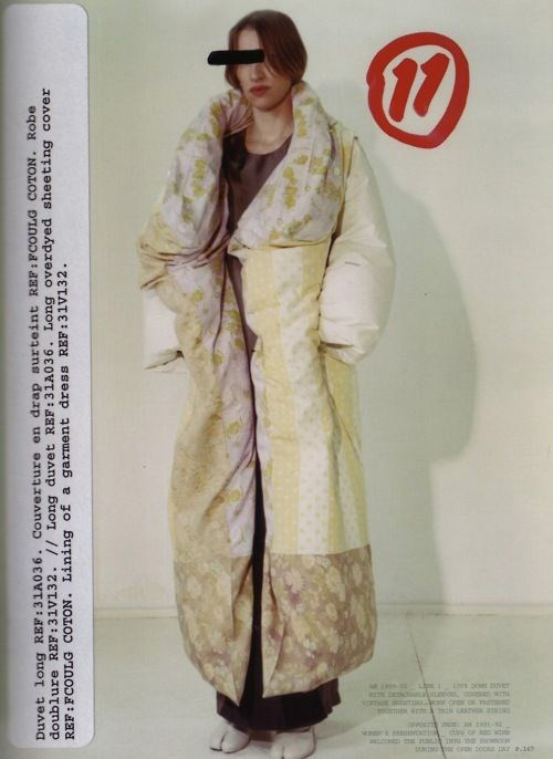 wearable object in fashion one more good one maison martin margiela mmm duvet dress autumn winter 1999