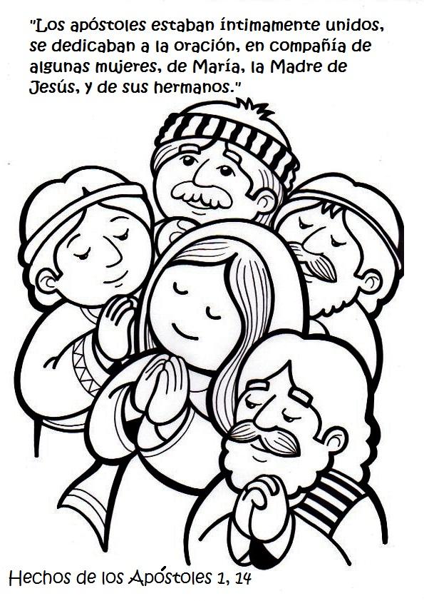 El Rincón de las Melli: 13º Estación: María y los discípulos esperan ...