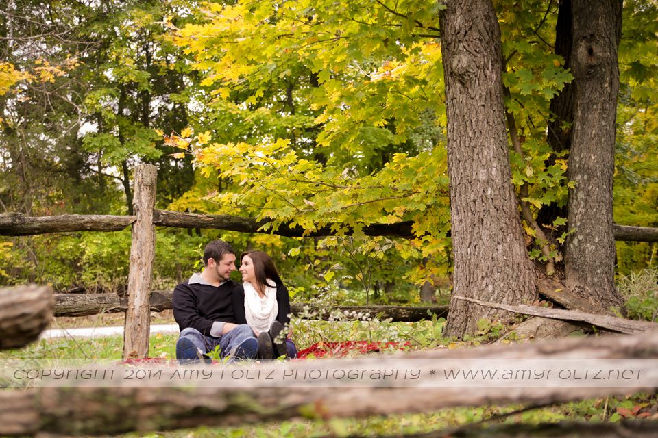 Engagement session at Fowler Park in Terre Haute
