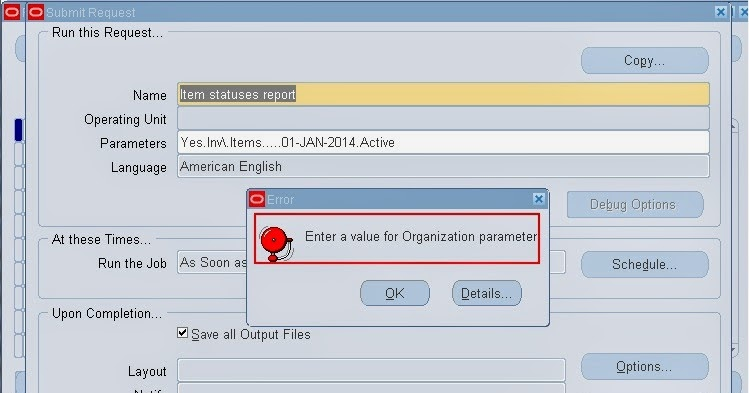 Oracle sql in out parameter