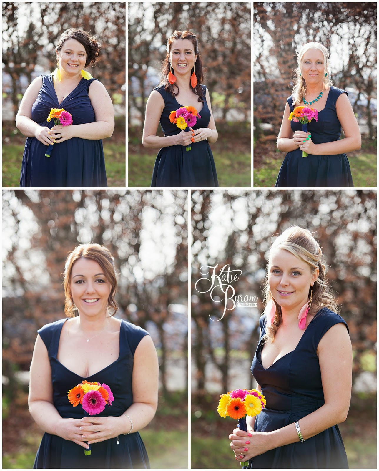 colourful bridesmaids, gebera bridesmaid bouquets, lumley castle wedding, durham wedding, katie byram photography, diane harbridge, carli peirson make up, the big event make up, wedding venues north east, northumberland wedding, quirky wedding photography, travel themed wedding, castle wedding north east, newcastle wedding, chester-le-street