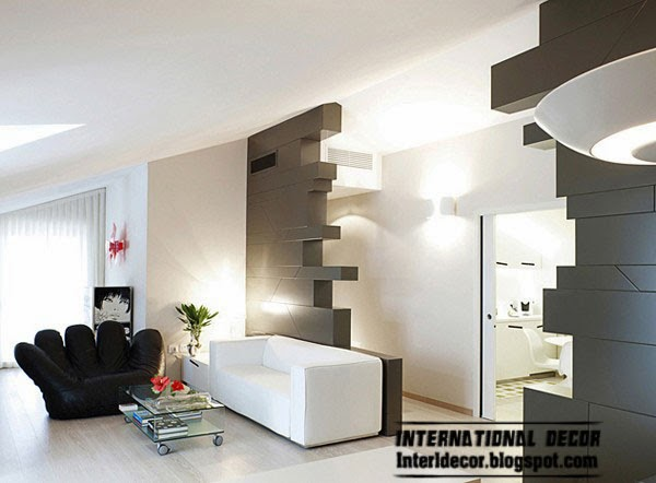 Creative minimalist interior design from italian designers for Unusual interior design