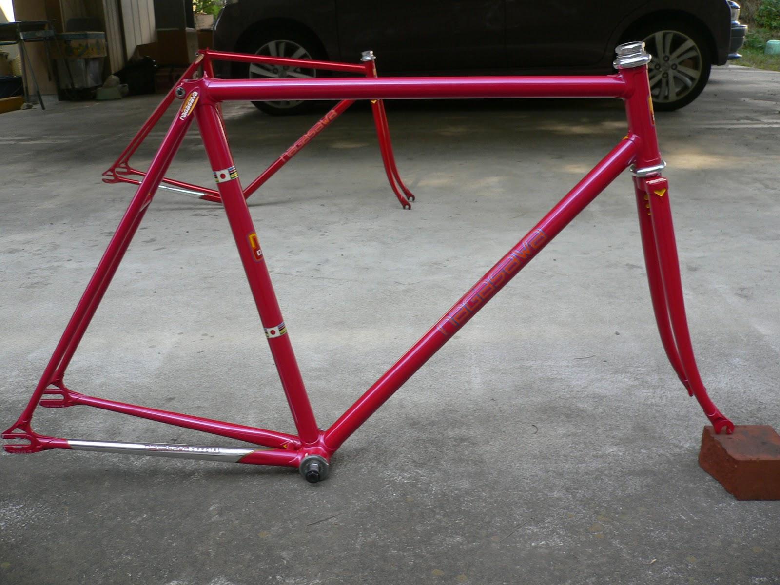 njs keirin track bike &frame for sell: NOS NAGASAWA NJS KEIRIN frame ...