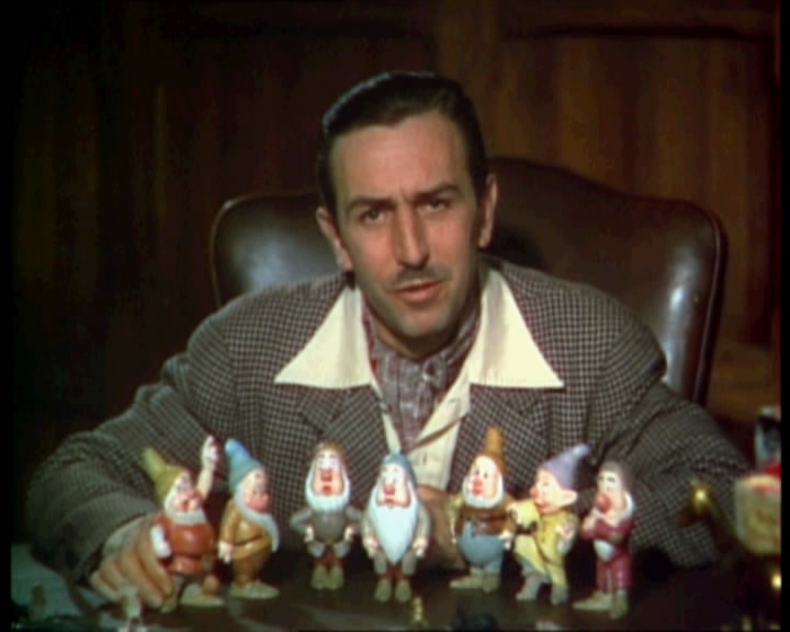 Walt Disney in Snow White and the Seven Dwarfs trailer onceuponatimeabc.blogspot.com