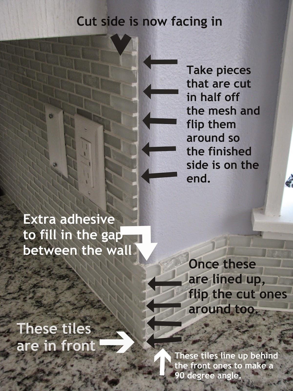 My So-Called DIY Blog: Tiling Backsplash in a Bay Window ...