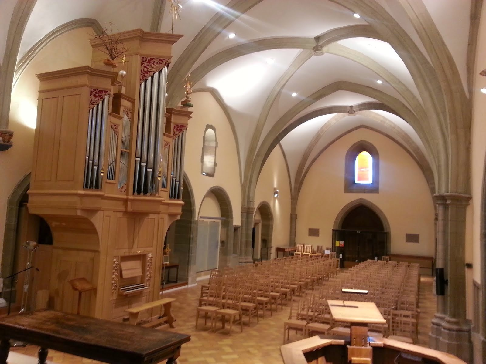 Auditoire de Calvin con nuovo organo