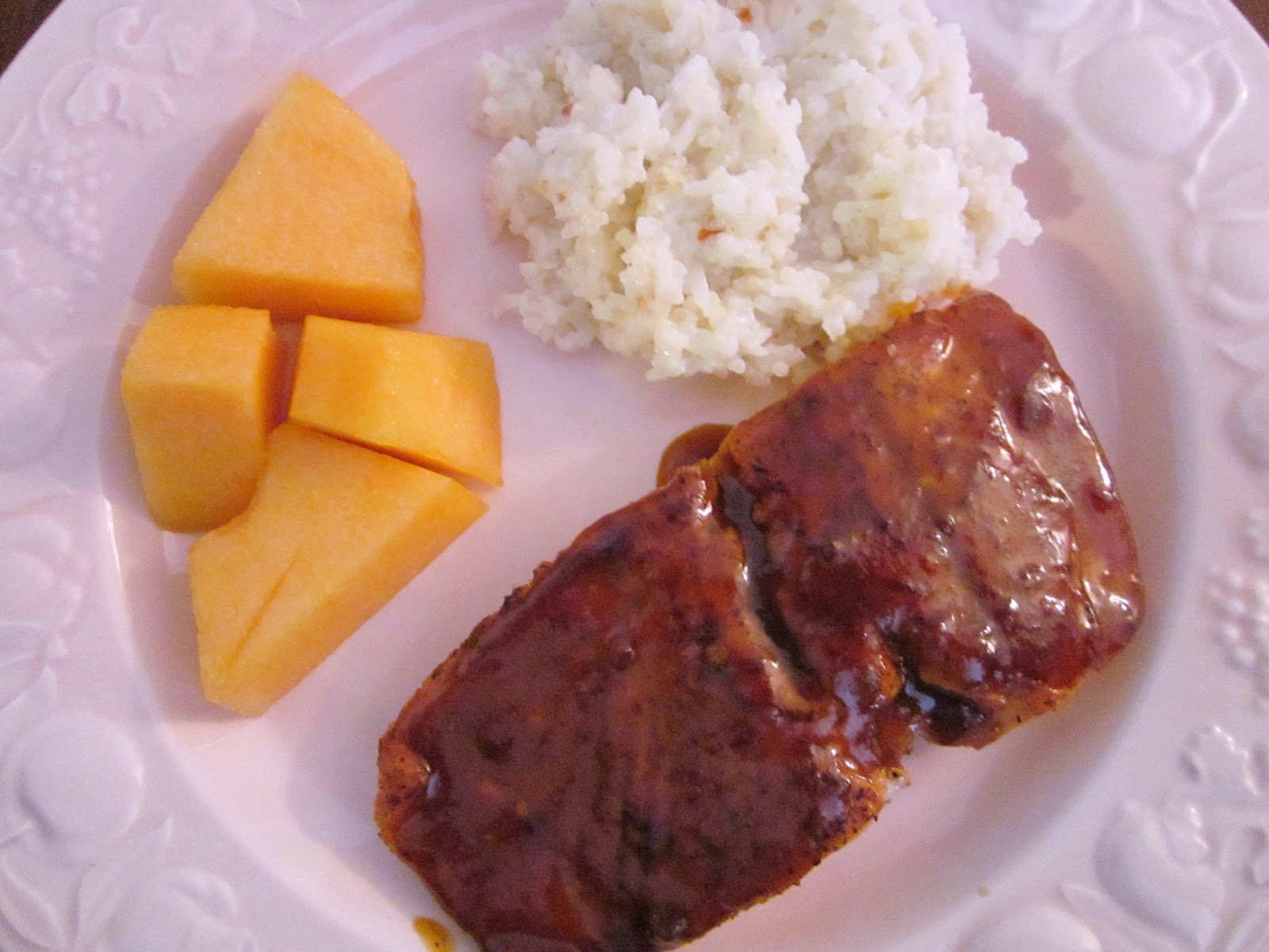 ... : Asian-Barbecue Glazed Salmon and Ginger-Spiced Coconut Rice. Wow
