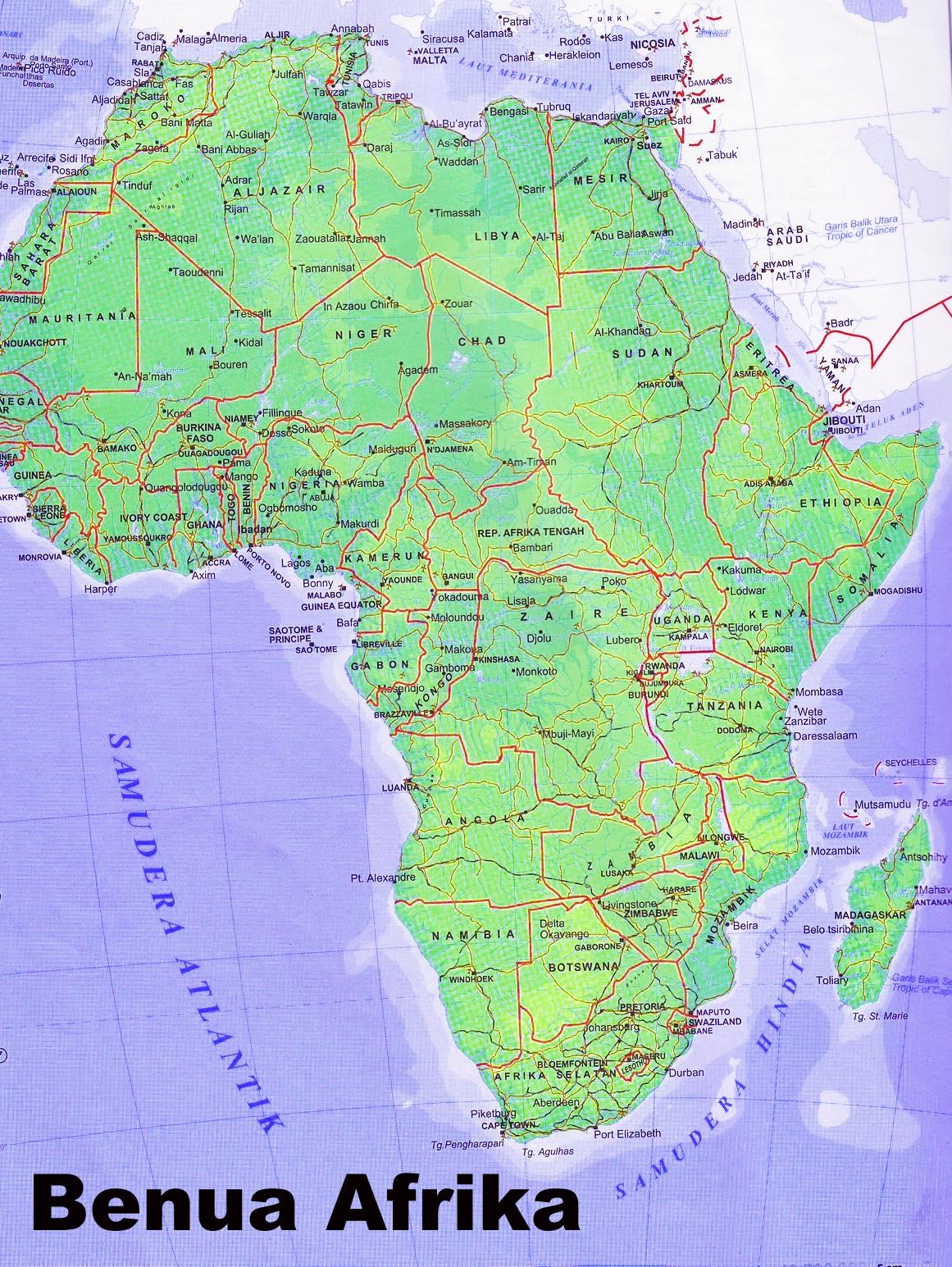 Peta Benua Afrika Benua Afrika ...