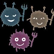 細菌・ばい菌のイラスト「悪い顔のキャラクター」