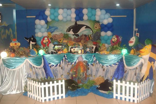 Tema Fundo do Mar para festa de aniversário