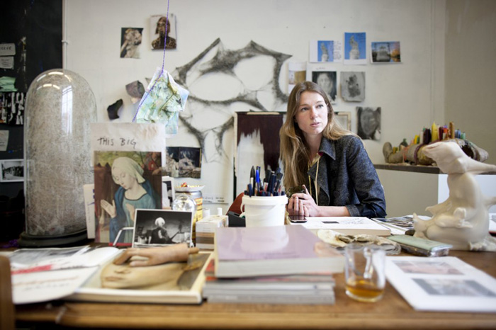 Amie Dicke at her studio