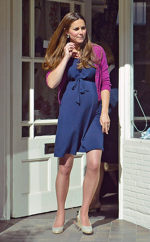 Kate's maternity look fashion pregnancy photos