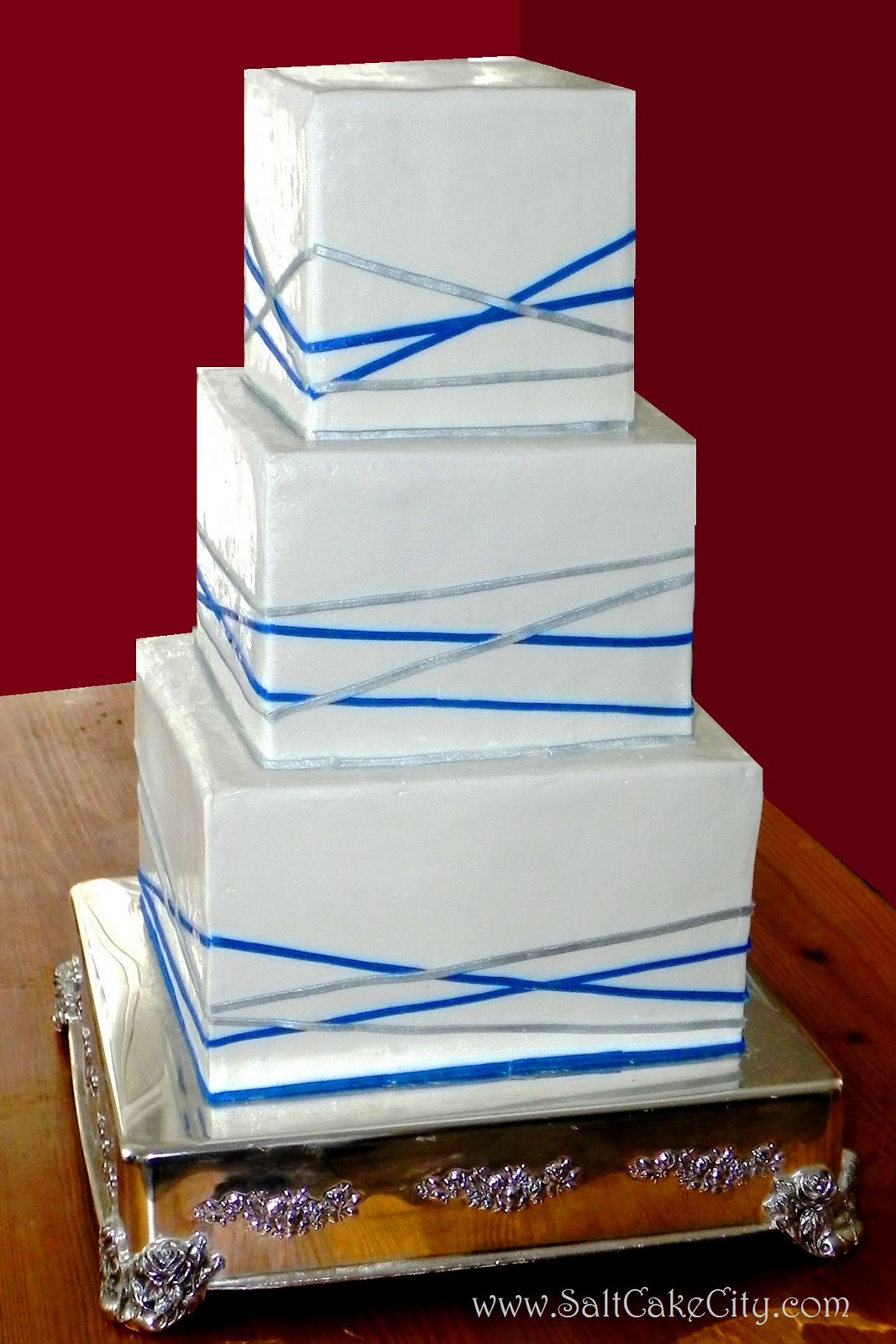 The Bridal Cake Vertical or Horizontal Stripes on Square