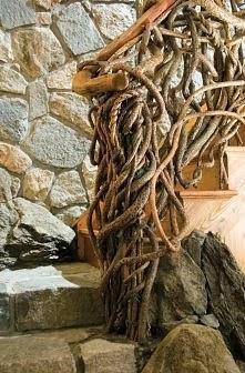 balustrada z korzeni