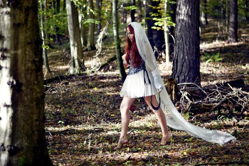 Halloween-Makeup-Kostüm-Braut