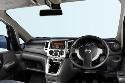 Interior of  2012 nissan evalia.