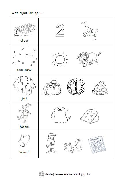 Kleuterjuf In Een Kleuterklas Werkboekje Thema Winter