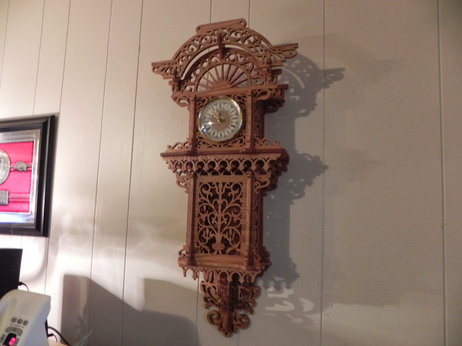 Wall Hanging Grandfather Clock reaganite71's blog: it is done! wall hanging grandfather clock is
