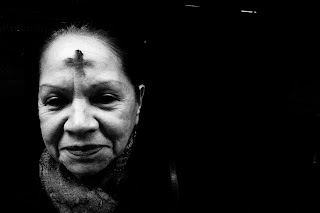 old woman, ash wednesday, church year, liturgy