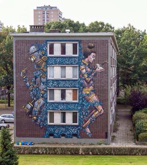 Street Art By Pixel Pancho For Day On Urban Art Festival In Antwerp, Belgium. 2