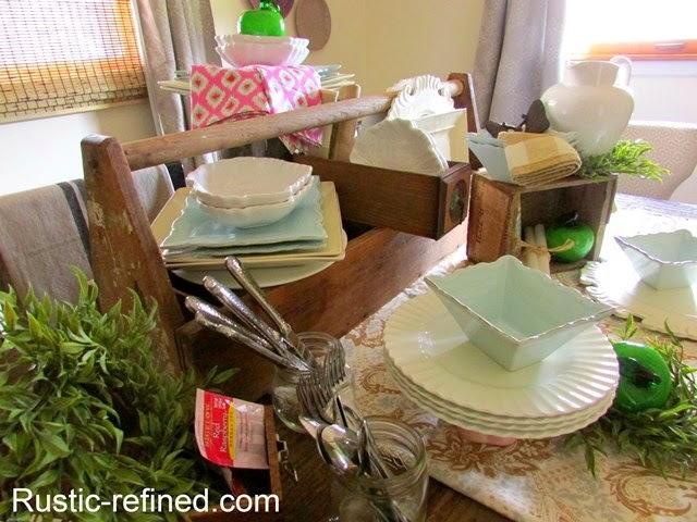 Barnwood, Boxes & Buffet Table