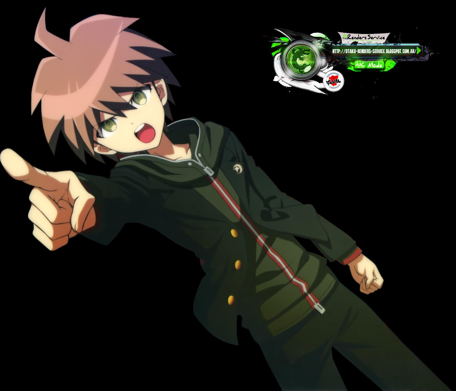 Danganronpa makoto naegi kakoiii hd render ors anime renders