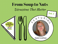 http://www.secularhomeschool.com/from-soup-to-nuts-featured-weekly-discussions/