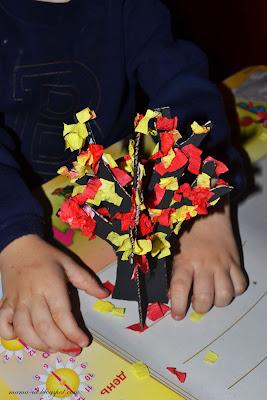 осенние поделки дерево