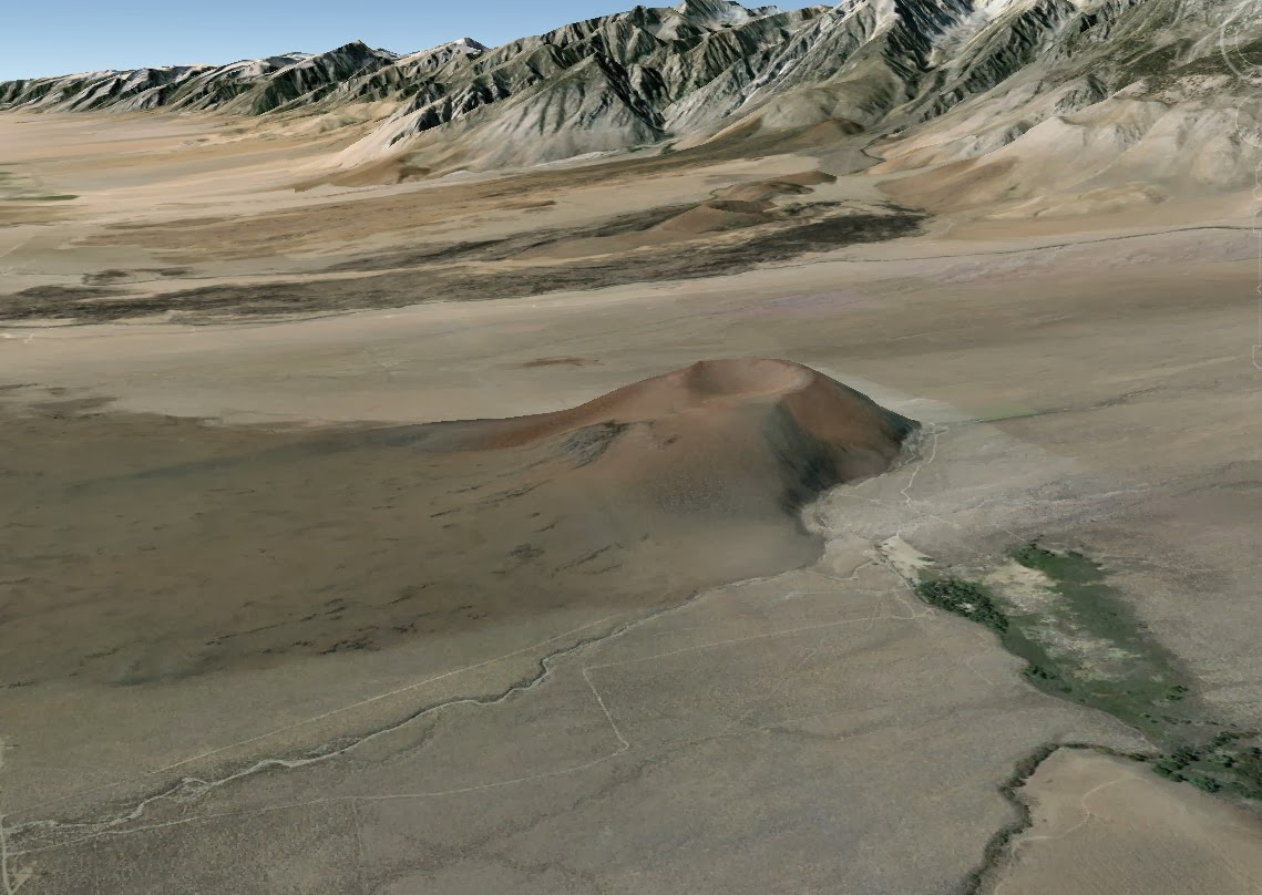 inyo county geology - cinder cone
