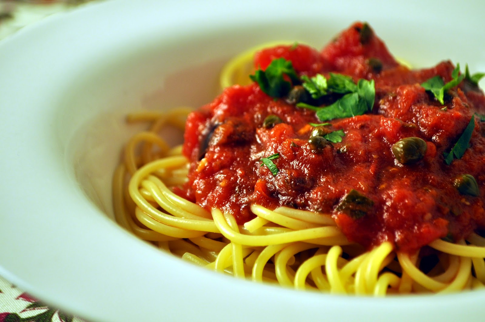 Puttanesca-Spaghetti