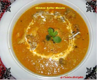 Chicken butter masala murg makhani cuisine delights - Herve cuisine butter chicken ...