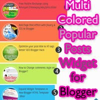 Another Awesome Multi-Colored Popular Posts Widget for Blogger